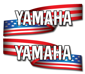 Yamaha stars and stripes outboard decal set u s flag for Yamaha boat decals graphics